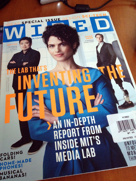 WIRED UK's cover paper stock is amazing